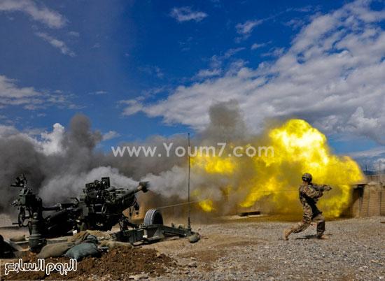 مدفع يقوم بتدمير أحد الأهداف -اليوم السابع -4 -2015