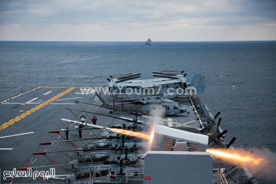 إطلاق صاروخ على متن سفينة حربية  -اليوم السابع -4 -2015