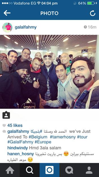 تامر حسنى يصل بلجيكا -اليوم السابع -4 -2015