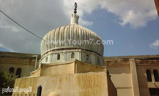 قبة أحد المساجد الأثرية بفوه -اليوم السابع -4 -2015
