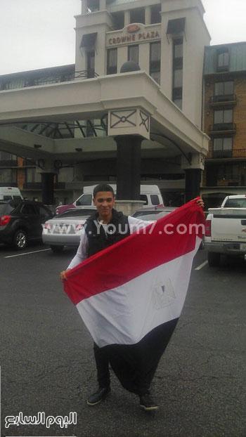 الطلاب يرفعون علم مصر بأمريكا -اليوم السابع -4 -2015