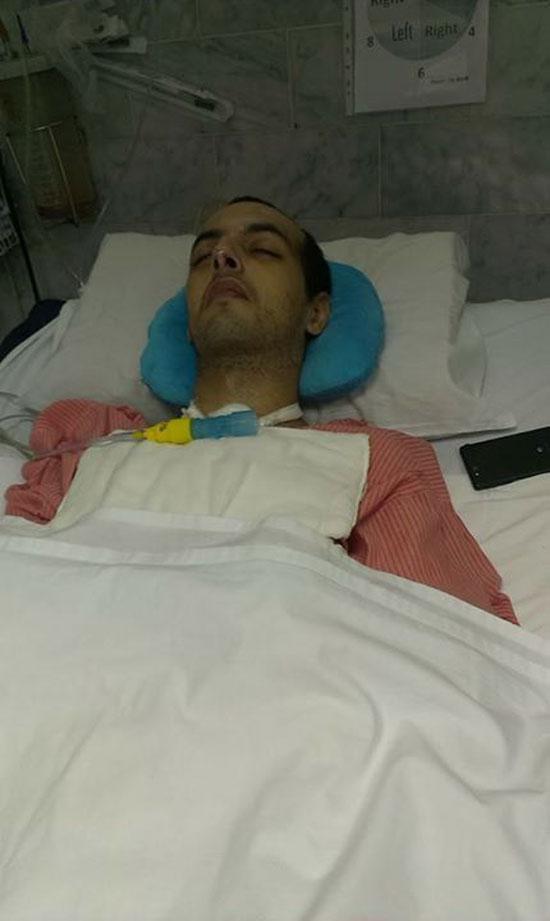 أحمد أثناء الغيبوبة -اليوم السابع -4 -2015