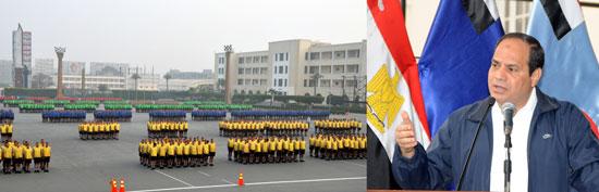 الرئيس السيسى يتابع مراحل الإعداد البدنى لطلبة الكلية الحربية -اليوم السابع -4 -2015