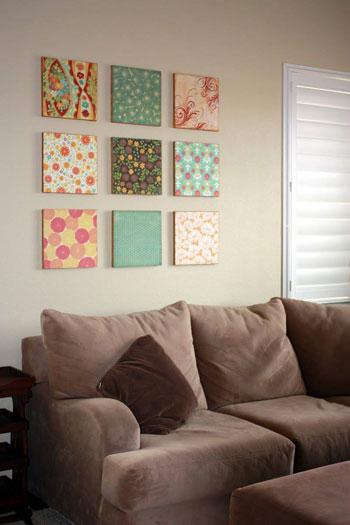 ديكورات من لوحات و اشكال من علب البيتزا 4201519148512