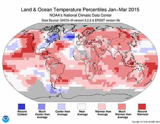 ارتفاع درجات الحرارة العالم السنه