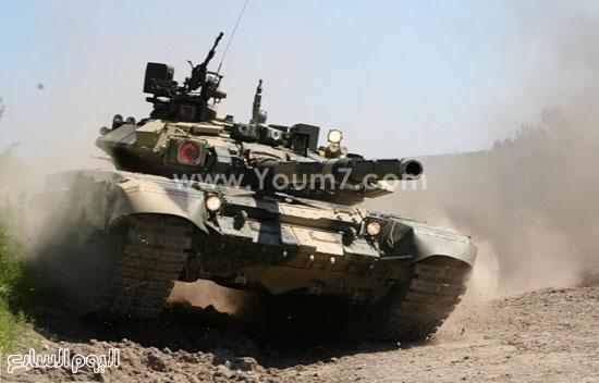 دبابة تى 90 الروسية -اليوم السابع -4 -2015