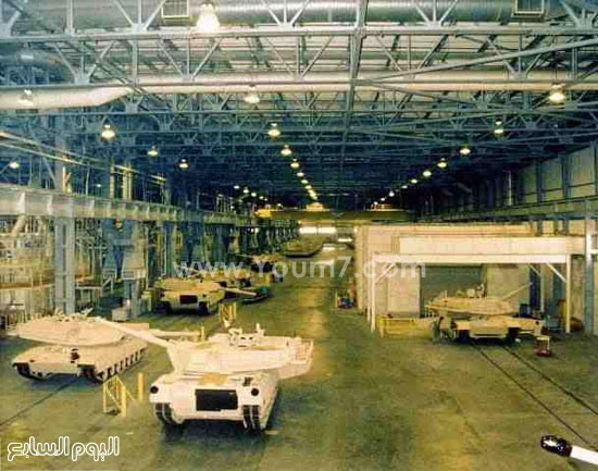 مصنع تصنيع دبابات أبرامز المصرية -اليوم السابع -4 -2015