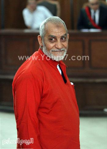 صور مرشد الاخوان محمد بديع بالبدلة الحمراء بدلة الاعدام 2015