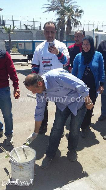 الحملة الميدانية لتجميل شوارع حى غرب -اليوم السابع -4 -2015