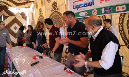 اللواء ممدوح شعبان، مدير عام جمعية الأورمان والكابتن نادر السيد -اليوم السابع -4 -2015
