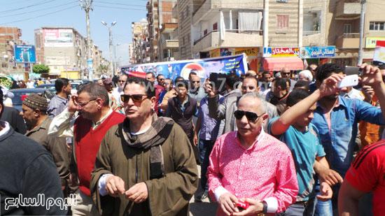 جانب من التظاهرة -اليوم السابع -4 -2015