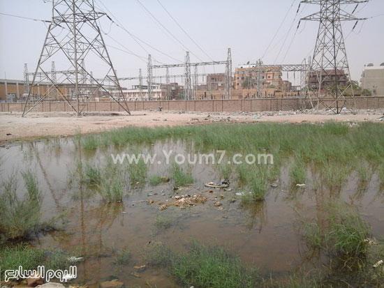 مياه الصرف تزحف إلى محطة كهرباء محولات السيل بأسوان -اليوم السابع -4 -2015