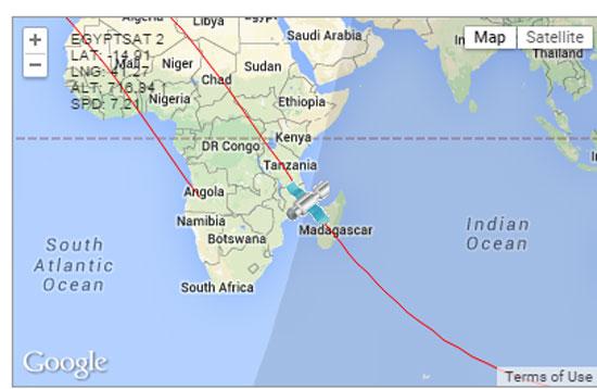 """الاستشعار عن بعد: """"إيجبت سات2"""" يحلق فوق المحيط الهندى الآن 4201525172043Capture"""