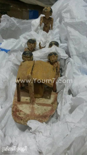 القطع الأثرية التى تم استردادها -اليوم السابع -4 -2015