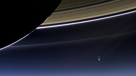 حجم الأرض كما يشير السهم