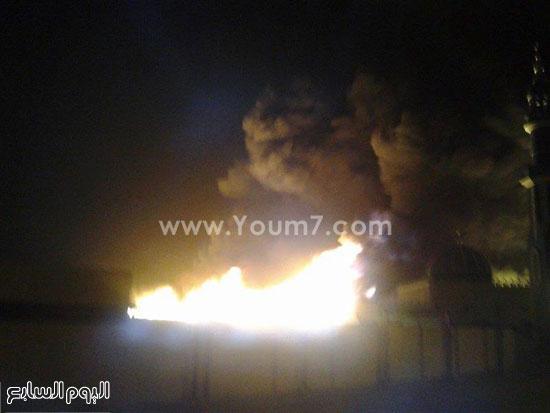 آثار الحريق الهائل فى مصنع الإسفنج -اليوم السابع -4 -2015