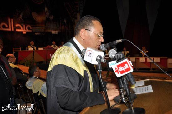 الدكتور ممدوح غراب أثناء الاحتفالية -اليوم السابع -4 -2015