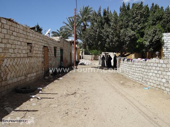 مدخل قرية الشيخ فضل  -اليوم السابع -4 -2015