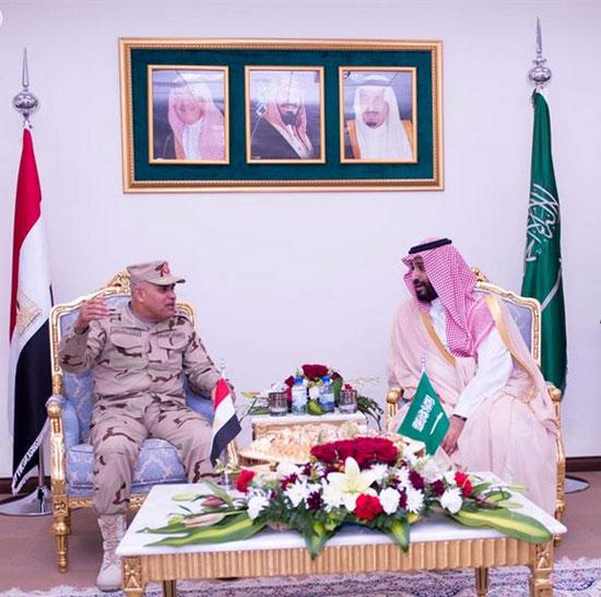 وزير الدفاع الفريق أول صدقى صبحى ونظيره السعودي -اليوم السابع -4 -2015
