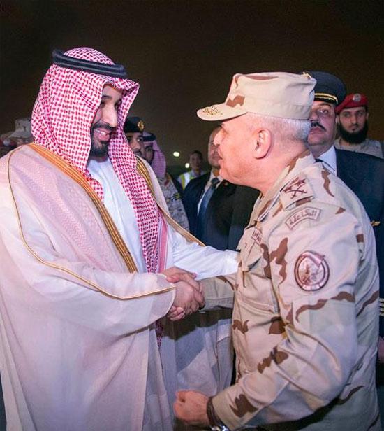 وزير الدفاع السعودي خلال استقباله للفريق اول صدقى صبحى -اليوم السابع -4 -2015