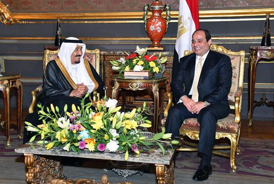 الرئيس عبد الفتاح السيسى  والملك سلمان بن عبد العزيز (1)
