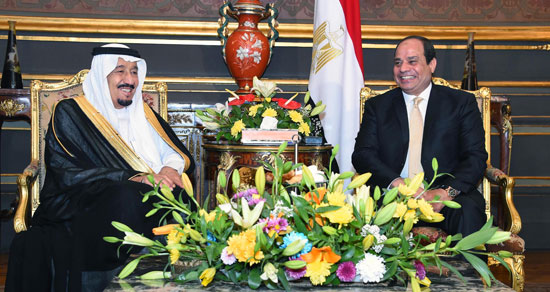 الرئيس عبد الفتاح السيسى  والملك سلمان بن عبد العزيز (2)
