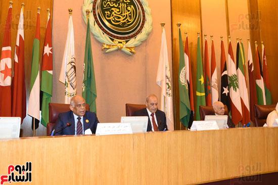 على عبد العال رئيس مجلس النواب  الجامعة العربية الاتحاد البرلمانى تهديد الامن القومى (3)