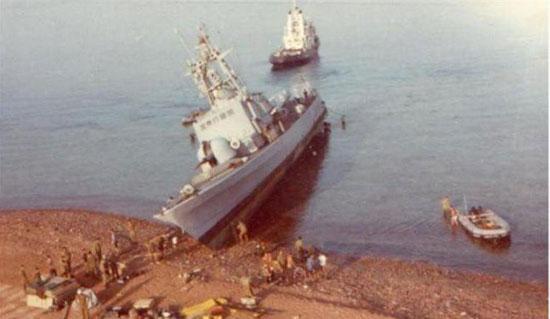 سفينة الصواريخ الإسرائيلية على الشواطئ السعودية عام 1981 (1)