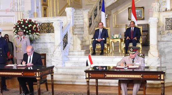 الاتفاقيات بين فرنسا ومصر بحضور السيسى وهولاند (1)