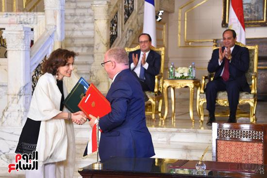 الاتفاقيات بين فرنسا ومصر بحضور السيسى وهولاند (2)