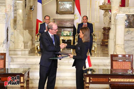الاتفاقيات بين فرنسا ومصر بحضور السيسى وهولاند (4)