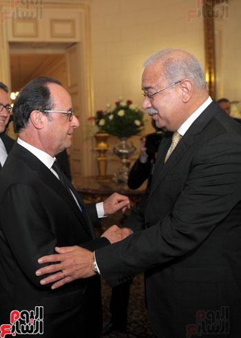 المهندس شريف اسماعيل رئيس الوزراء و الرئيس الفرنسى فرانسوا هولاند (2)