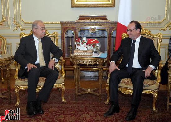 المهندس شريف اسماعيل رئيس الوزراء و الرئيس الفرنسى فرانسوا هولاند (3)