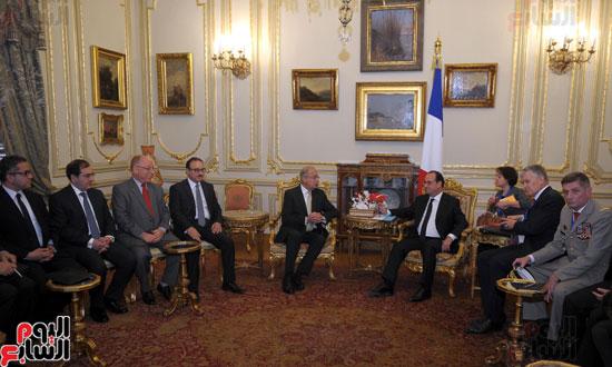المهندس شريف اسماعيل رئيس الوزراء و الرئيس الفرنسى فرانسوا هولاند (4)