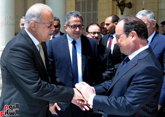 المهندس شريف اسماعيل رئيس الوزراء و الرئيس الفرنسى فرانسوا هولاند (5)