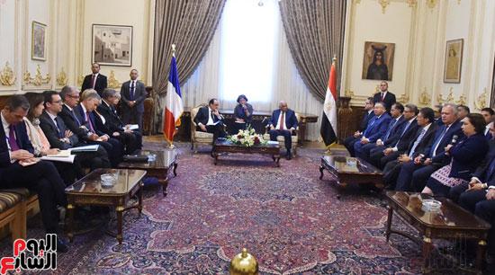 الرئيس الفرنسى يزور مقر مجلس النواب وعلى عبد العال فى استقباله (7)