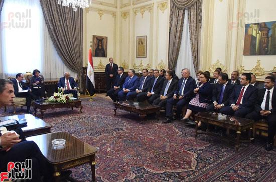 الرئيس الفرنسى يزور مقر مجلس النواب وعلى عبد العال فى استقباله (8)