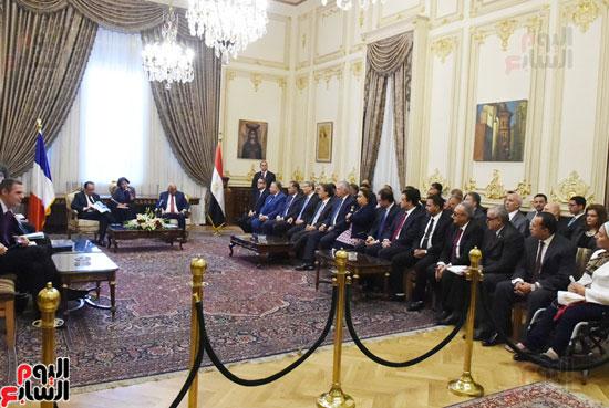 الرئيس الفرنسى يزور مقر مجلس النواب وعلى عبد العال فى استقباله (9)