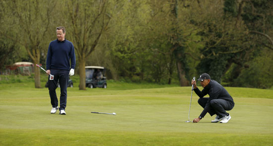 اوباما ، ديفيد كاميرون ، بريطانيا ، امريكا ، الاتحاد الاوروبى ، جولف ، مباراة جولف (10)