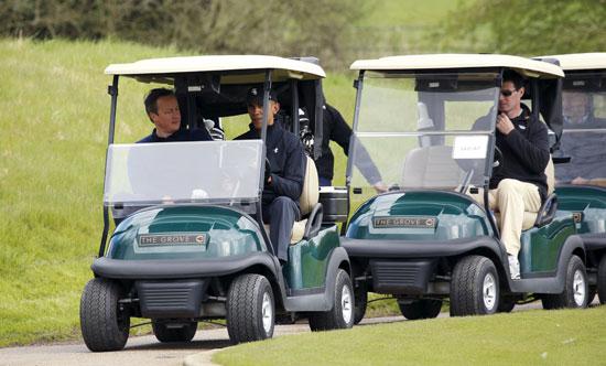اوباما ، ديفيد كاميرون ، بريطانيا ، امريكا ، الاتحاد الاوروبى ، جولف ، مباراة جولف (12)
