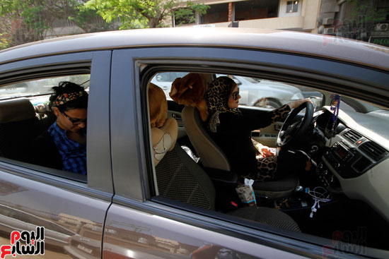 هالة بتشتغل سواق تاكسى بشياكة (5)