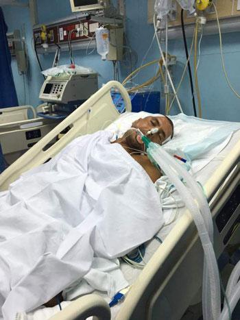 مصاب - ابراهيم فتحى - عملية جراحية - حادث دراجة (5)