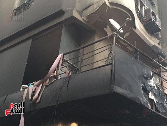 حريق معرض السيارات فيصل الهرم معرض سيارات مطافى (6)