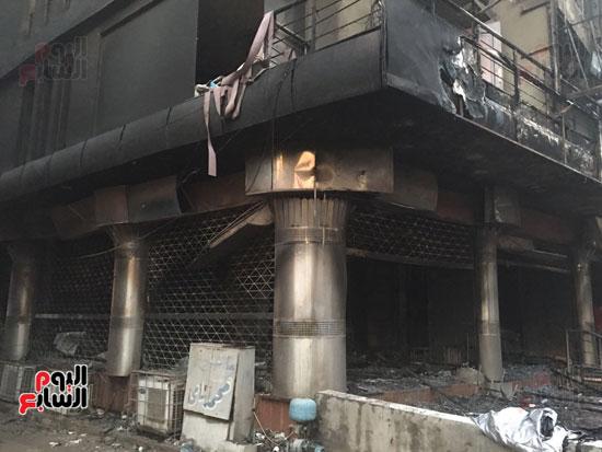 حريق معرض السيارات فيصل الهرم معرض سيارات مطافى (13)