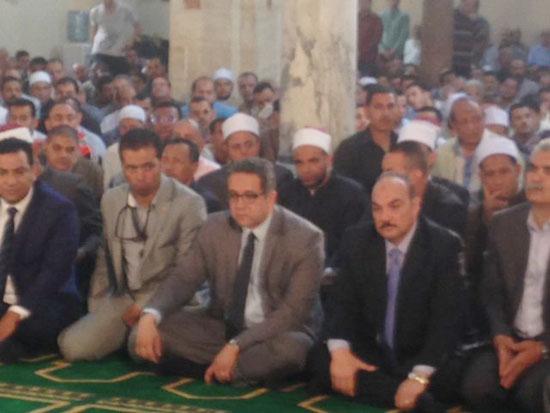 وصول وزير الآثار لمسجد الظاهر بيبرس (3)