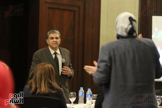 وزير البيئة ، النائبة شيرين فراج ، مشادة كلامية ، الدكتورة عبلة عبد اللطيف ، مستشارة الرئيس (2)