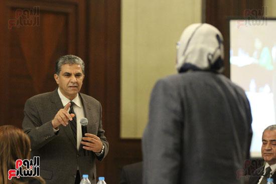 وزير البيئة ، النائبة شيرين فراج ، مشادة كلامية ، الدكتورة عبلة عبد اللطيف ، مستشارة الرئيس (3)