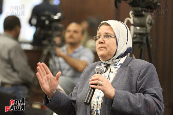 وزير البيئة ، النائبة شيرين فراج ، مشادة كلامية ، الدكتورة عبلة عبد اللطيف ، مستشارة الرئيس (7)