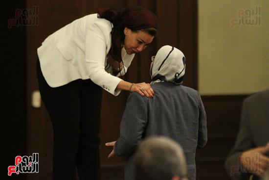 وزير البيئة ، النائبة شيرين فراج ، مشادة كلامية ، الدكتورة عبلة عبد اللطيف ، مستشارة الرئيس (8)