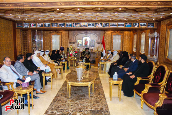 اخبار مصر اليوم  امل القبيسى البابا تواضروس رئيسة المجلس الوطنى الاتحادى بالامارات الكاتدرئية المرقسية (1)